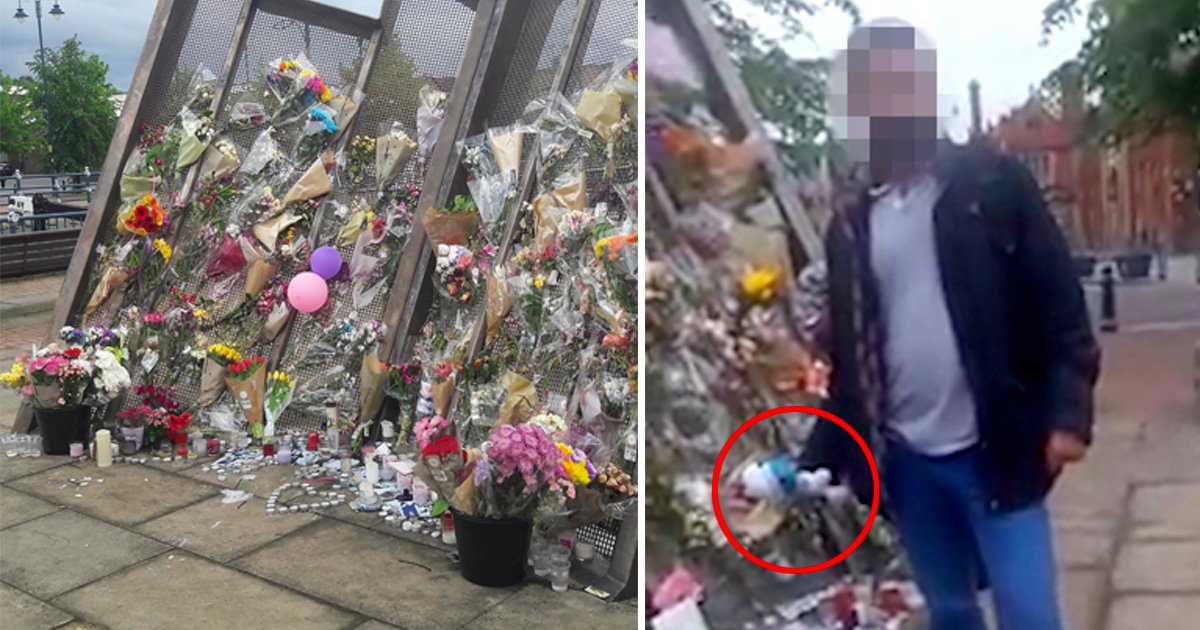 Two men caught stealing floral tributes to Manchester terror attack victims