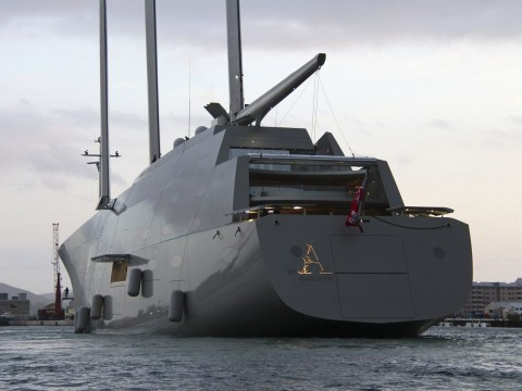 Russian billionaire spends £360m on superyacht that appears not to have any windows