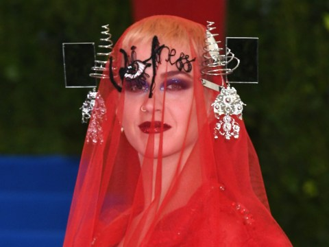 Did Katy Perry reveal the name of her new album in her Met Gala dress?