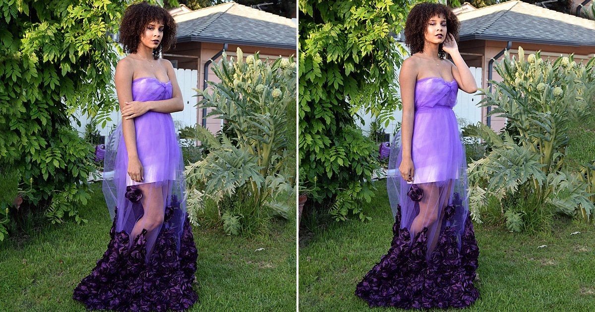 This teen made her own prom dress the night before the dance – and it was stunning