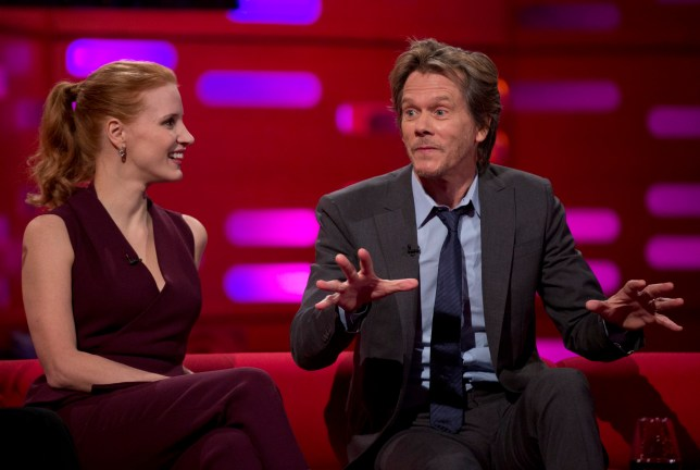 Jessica Chastain and Kevin Bacon admit to having used their fame to dodge speeding fines (Picture: PA)