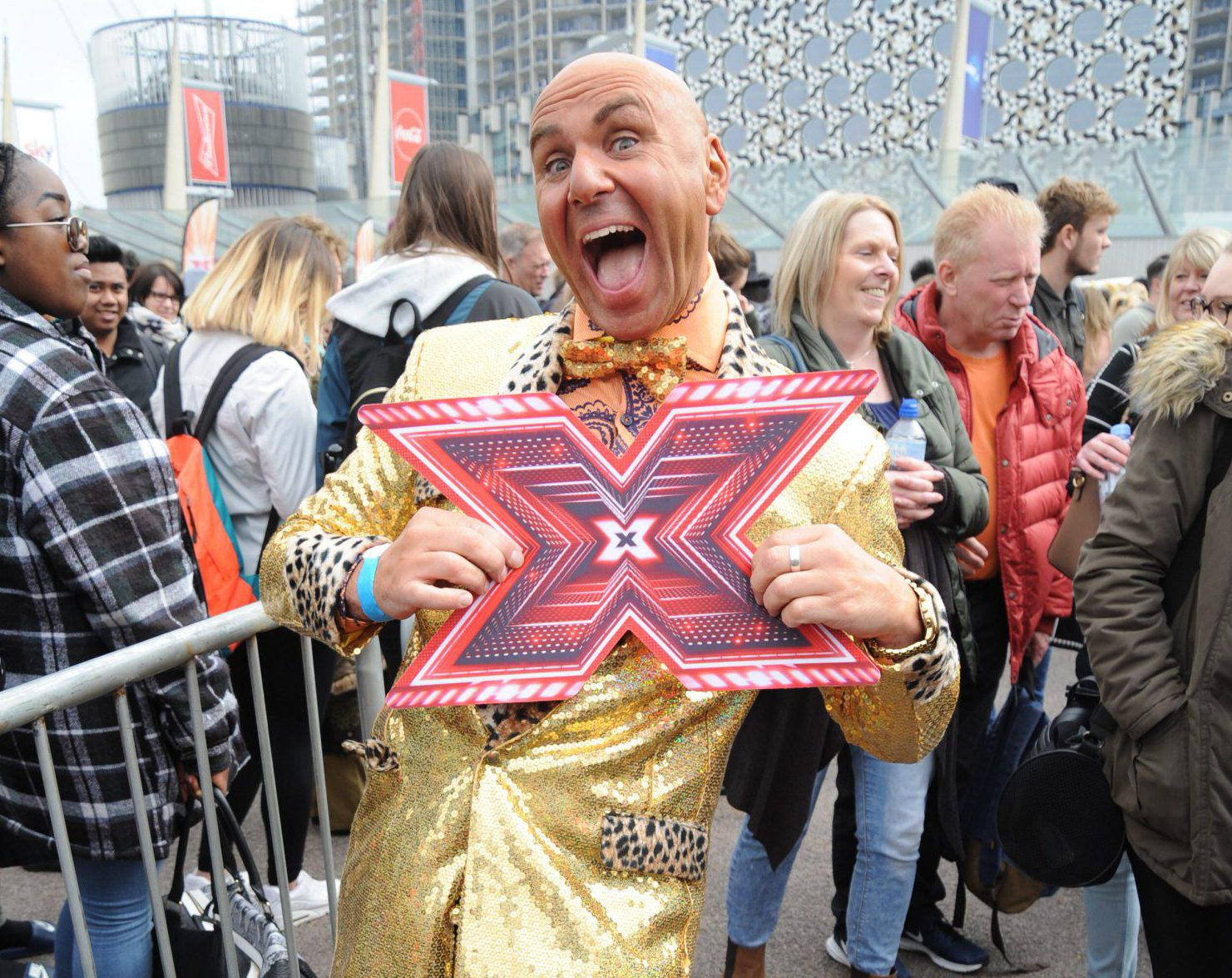 Simon Gross At X factor Auditions In London
