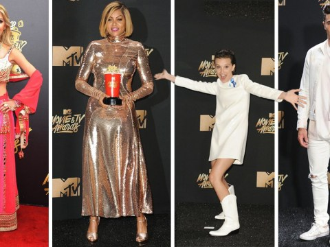 Fifteen looks from the rain-soaked red carpet at the MTV Movie And TV Awards