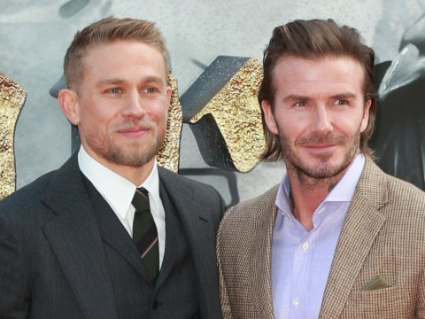 Charlie Hunnam says David Beckham did a good job in King Arthur as Becks shares behind the scenes footage