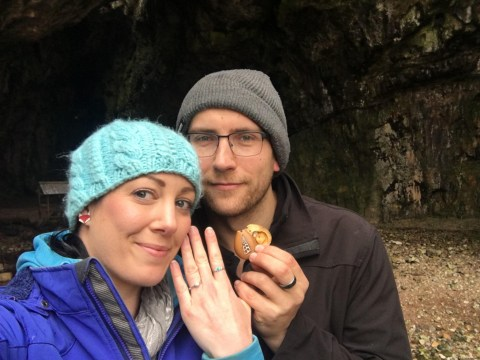 Man surprised his girlfriend with an engagement ring she'd been wearing for a year without realising