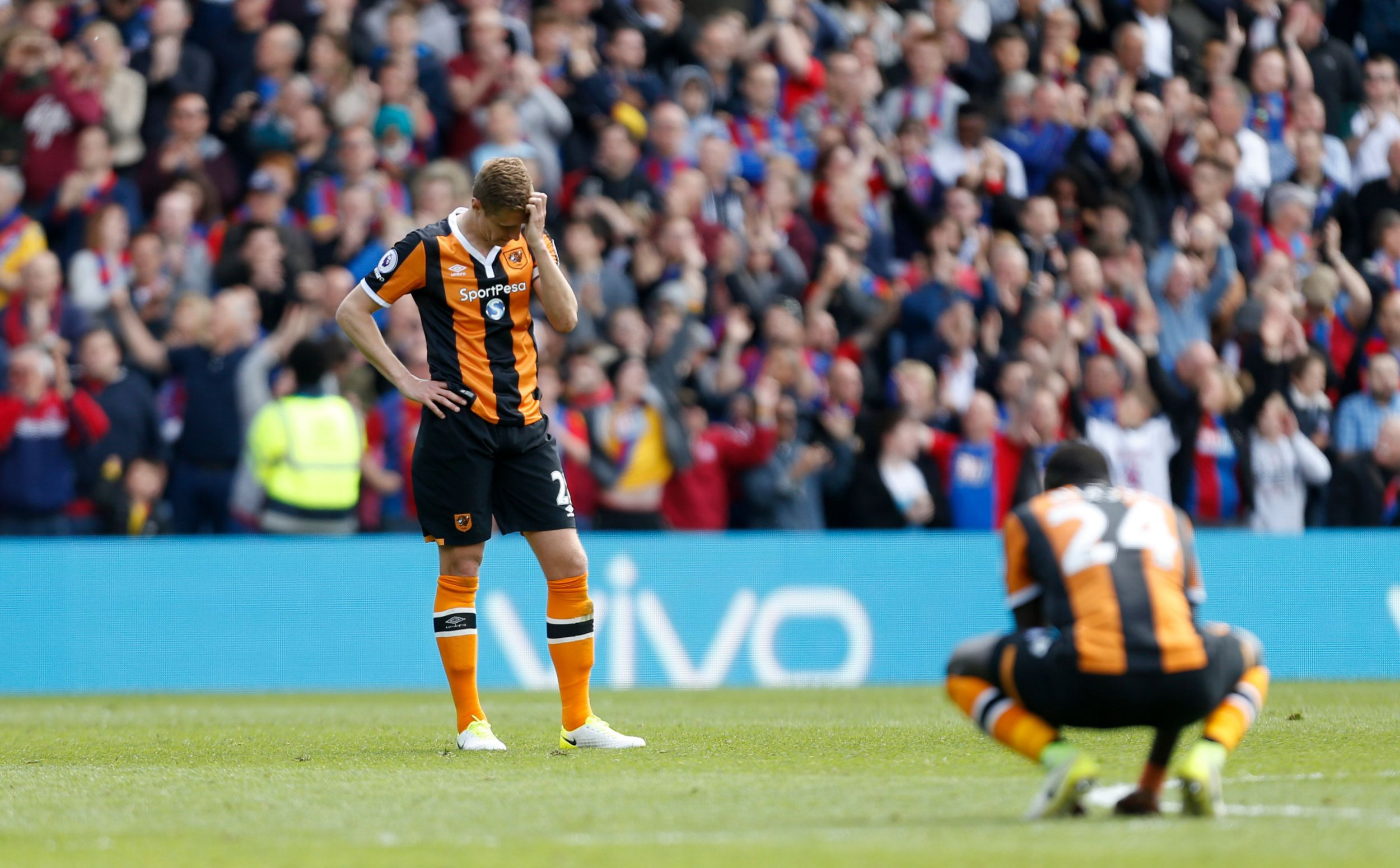 Hull City relegated after horrendous defending in 4-0 defeat to Crystal Palace