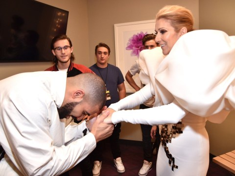 Drake meets Celine Dion at the Billboard Music Awards and tells her he wants a tattoo of her face