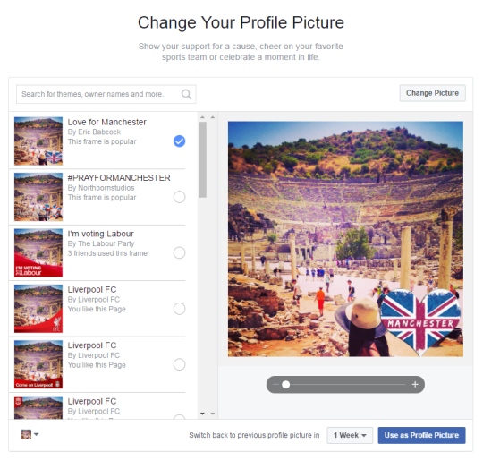 How to put the Manchester heart on your Facebook profile picture