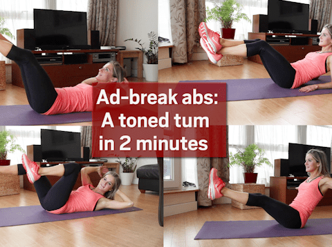 Ad-break abs: A toned tum in 2 minutes