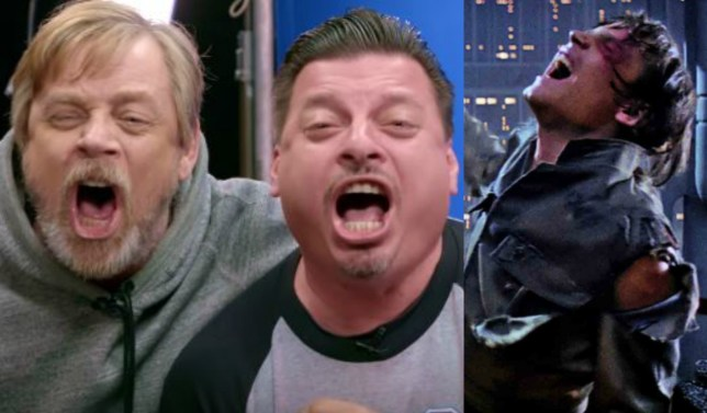 Mark Hamill has pranked unsuspecting Star Wars fans in a hilarious re-enactment video (Picture: YouTube)