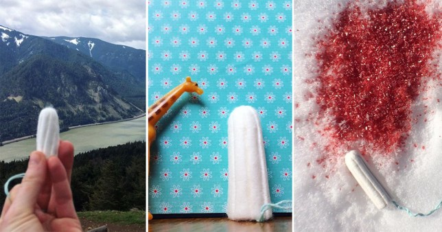 Tampons in Beautiful Places