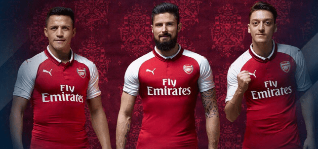 0e8ea4191cd Alexis Sanchez and Mesut Ozil have been pictured in the new kit (Picture:  Twitter)