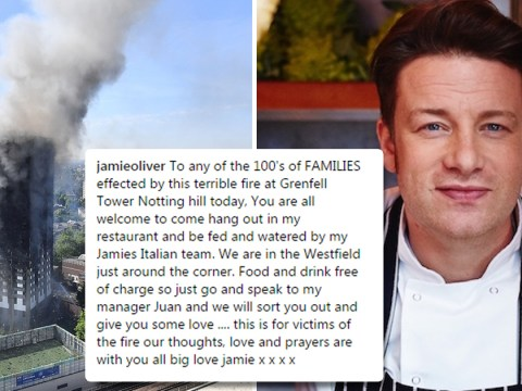 Jamie Oliver offers Grenfell Tower fire victims free food and shelter at his Westfield restaurant