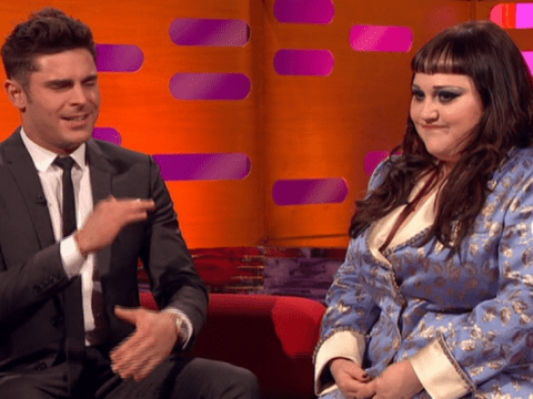 Beth Ditto makes Zac Efron squirm after he says she could 'crush' him on The Graham Norton Show