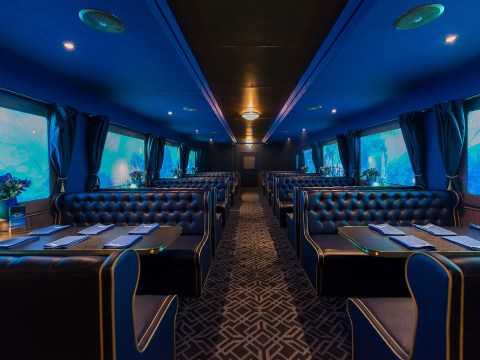 A blue gin train is coming to London to magically transport you around the world