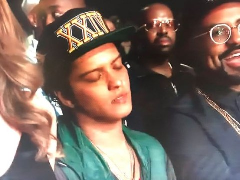 Bruno Mars looked like he was nodding off at the BET Awards