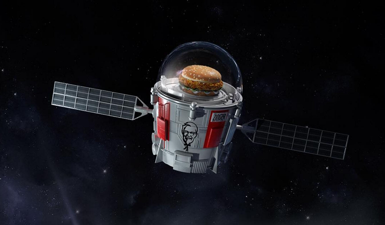 KFC is launching a chicken sandwich into space