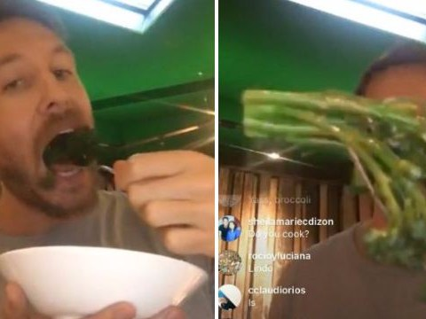 Calvin Harris live streamed himself eating broccoli and it was better than Katy Perry