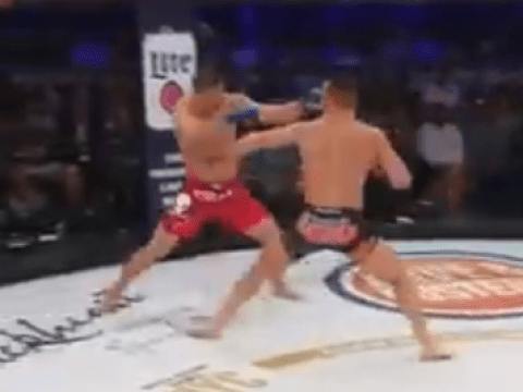 Michael Chandler's ankle breaks during Bellator NYC title defeat to Brent Primus