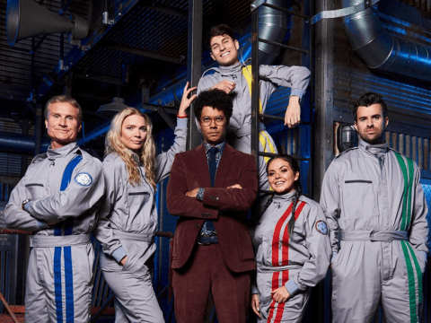 Crystal Maze: Watch Joey Essex struggle to keep his cool during a swinging challenge