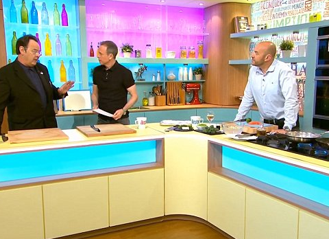 Dan Aykroyd upstages actual presenters Tim Lovejoy and Simon Rimmer on Sunday Brunch