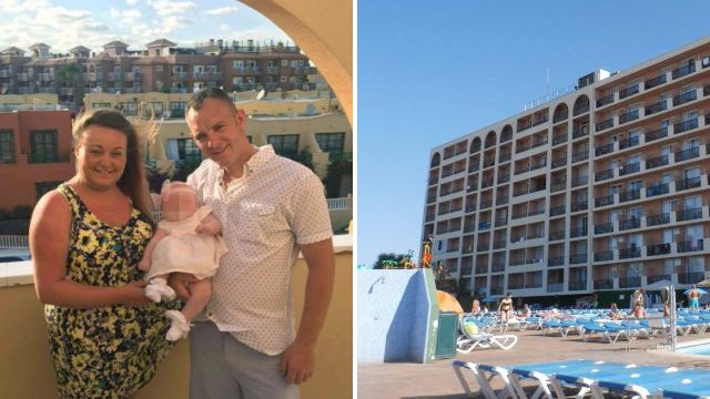 Woman tries to snatch British toddler from her mum's knee in Majorca hotel
