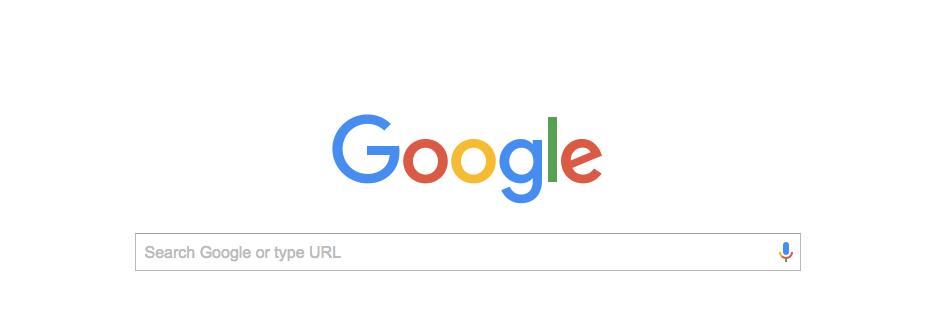 screenshot of google homepage