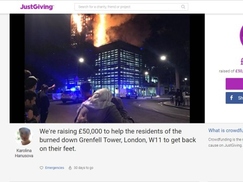 Crowdfunding page to help the residents devastated by the Grenfell Tower fire