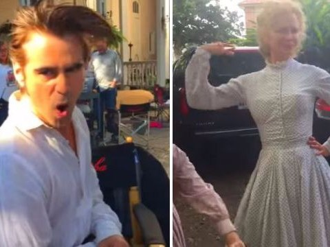 Watch Nicole Kidman and Colin Farrell lip sync Hamilton's The Schuyler Sisters