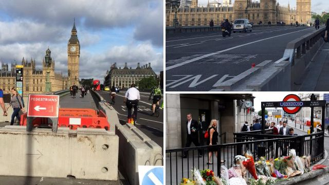 'Anti-terror' barriers put in place overnight on central London bridges