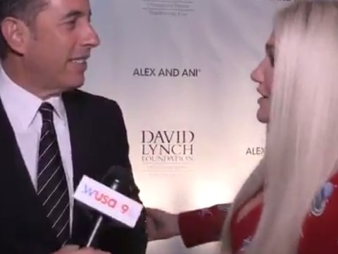 Watch Jerry Seinfeld brutally snub Kesha as she goes in for a hug