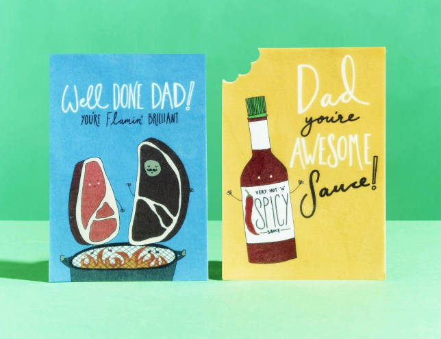 Moonpig edible, flavoured Fathers Day cards