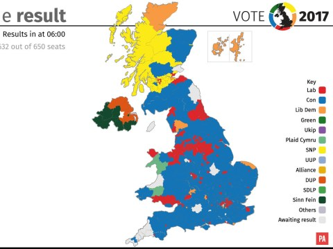 Break down of General Election 2017 results by maps