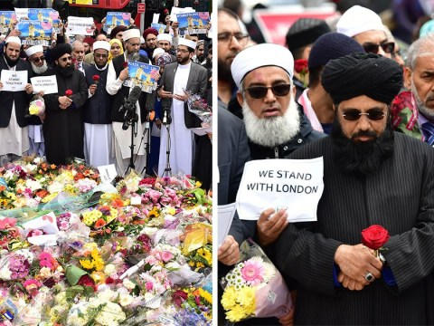 100 muslim leaders gather on London Bridge to condemn attacks