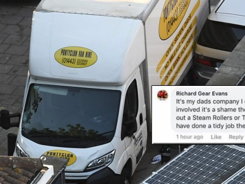 Son of van hire owner arrested over 'It's a shame they don't hire out tanks' post