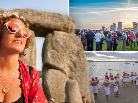 Sun-worshippers and nude swimmers mark the June solstice around the world