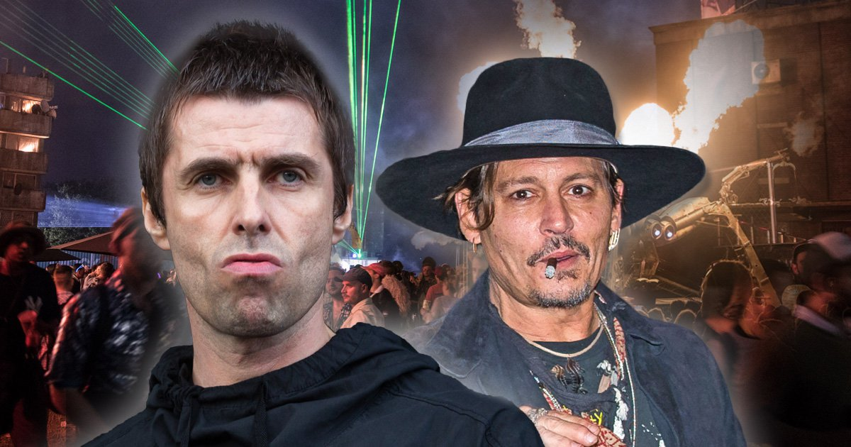 Liam Gallagher and Johnny Depp 'reunite at post-Glastonbury party complete with 40 bottles of vodka'