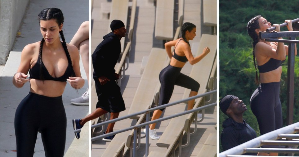 db362c7d5f Here s Kim Kardashian looking like a total goddess while working out after  she trashed her holiday photos