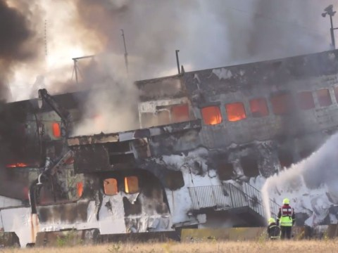 Iconic party boat destroyed in huge fire in Middlesbrough