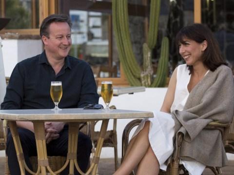 Samantha Cameron has shared a deeply disturbing photo of her and David