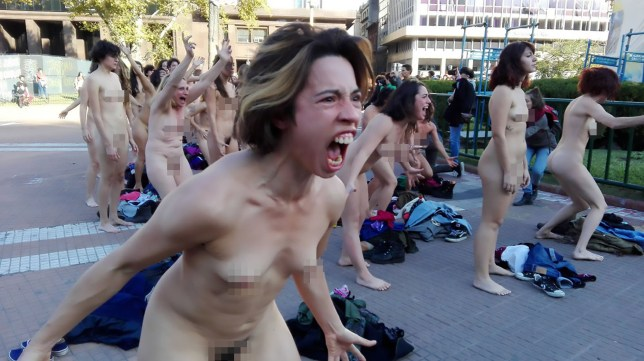 Naked Feminists Stage Screaming Protest For Violence Against Women