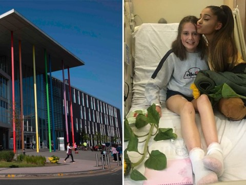 Ariana Grande gave 'seriously injured' fan hugs and gifts during hospital visit