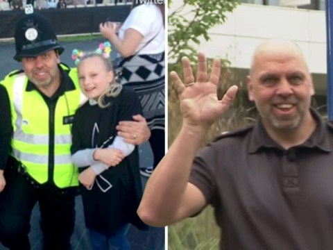 Girls reunited with police officer that danced with them at One Love concert