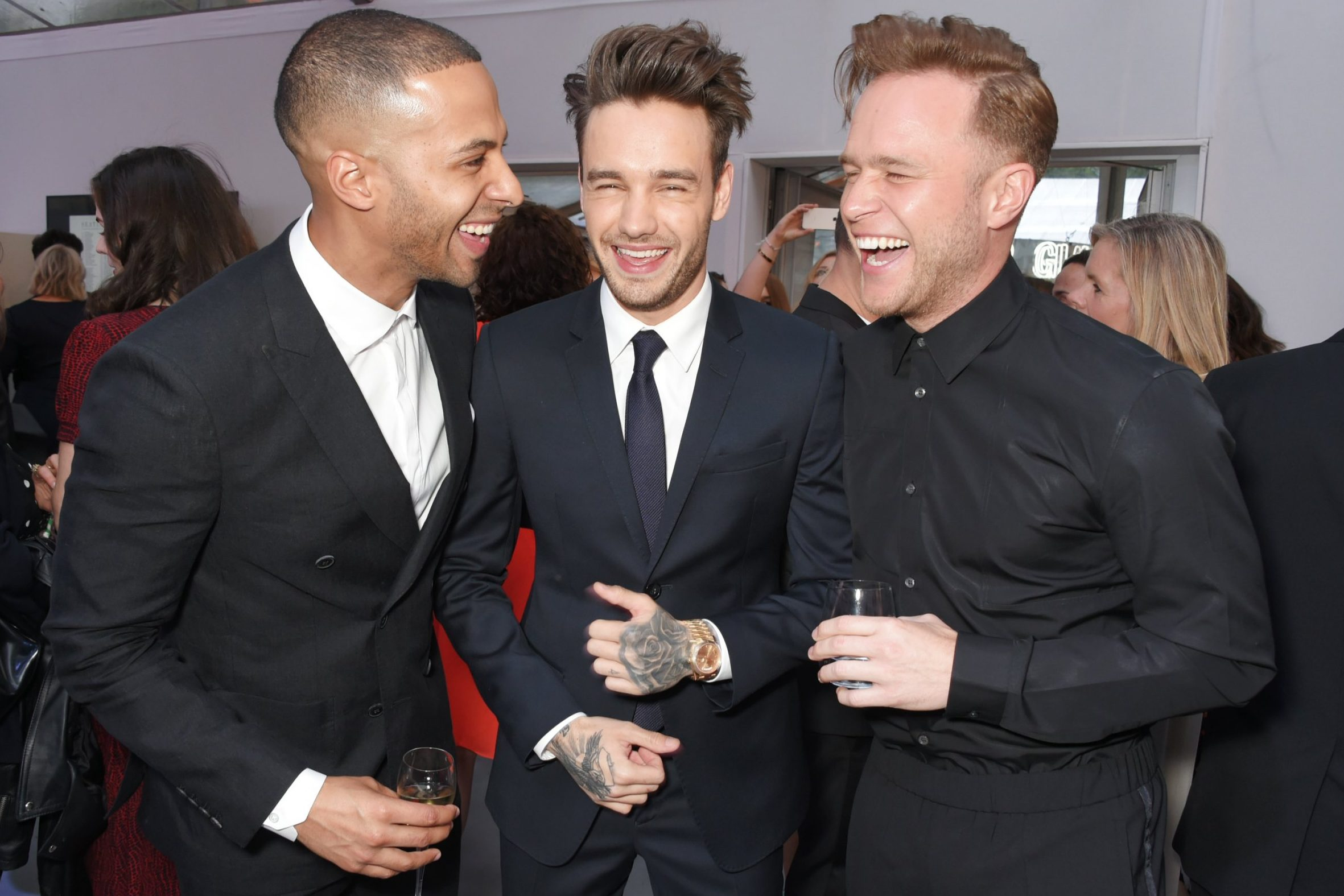 Liam Payne hanging out with Olly Murs and Marvin Humes at the Glamour Awards is giving us X Factor feels