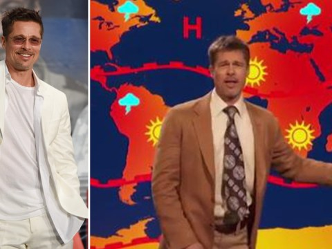 Brad Pitt mocks Donald Trump playing hilarious weatherman on Jim Jefferies show