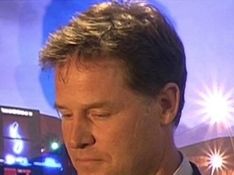 Former Lib Dem leader Nick Clegg looks tearful as he loses his seat to Labour