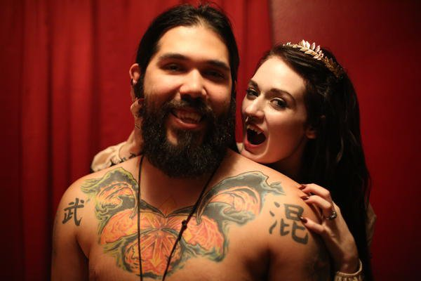 This 'vampire' couple think drinking each other's blood is better than sex and that's fine, I guess