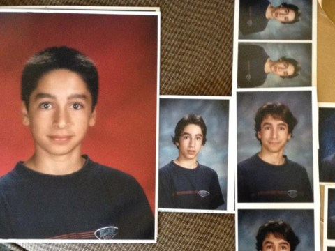 This guy wore the same shirt for all of his school photos – and his parents weren't impressed
