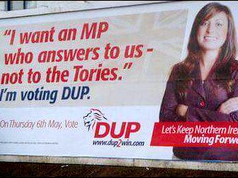 A DUP poster from 2010 has resurfaced and it hasn't aged well