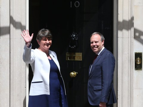 DUP leaders arrive at Downing Street for talks with Theresa May